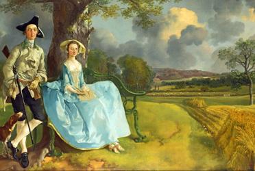 Gainsborough, Mr and Mrs Andrews, 1749-50, Detail