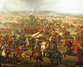 Wootton, Battle of Blenheim, c1742, detail