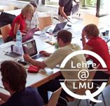 Arbeitsgruppe mit Lehre@LMU-Logo