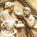 Lehre at LMU (Bild: Platon und Aristoteles von Sailko, CC Wikimedia Commons)