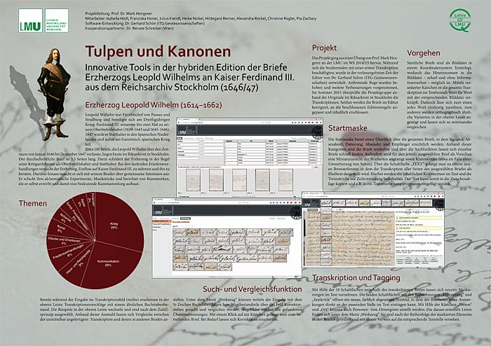 Poster der Projektgruppe Tulpen und Kanonen