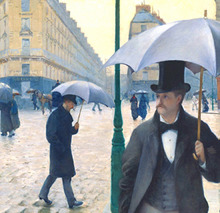 Caillebotte Regentag in Paris